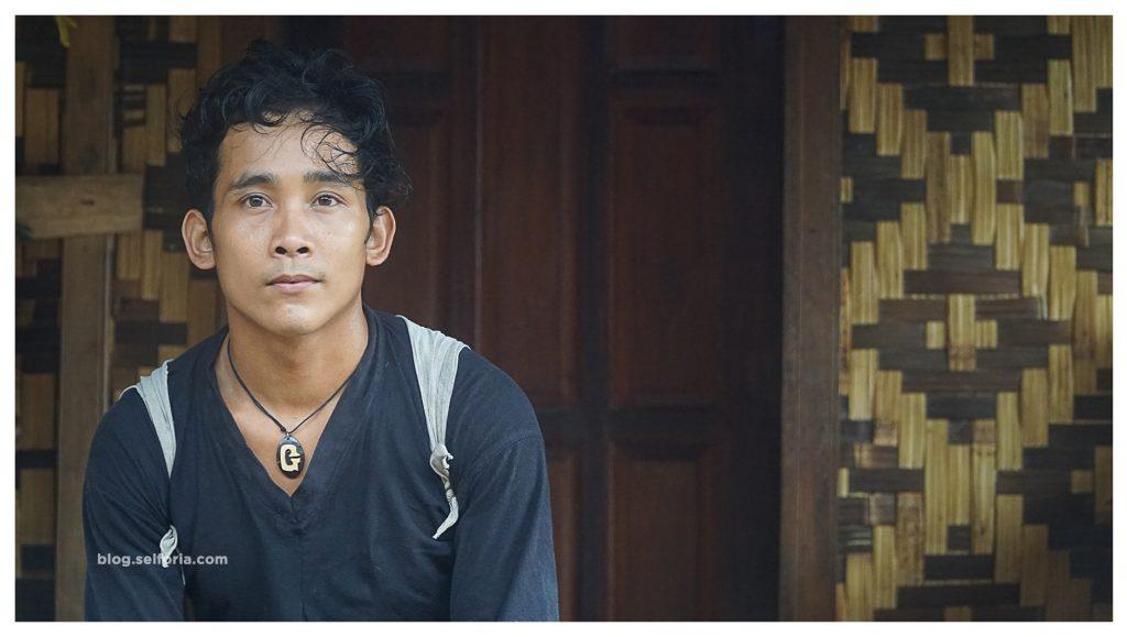 Sapri, salah satu pemuda penduduk baduy dalam